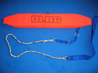Rescue buoy - A rescue tube, or Peterson tube.