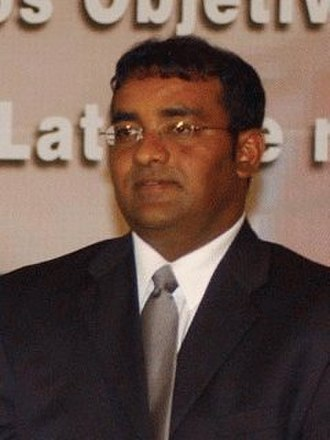 President pro tempore of the Union of South American Nations - Image: Guyana.Bharrat Jagdeo.01
