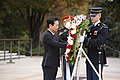 Gyeonggi Province Governor laid a wreath at the Tomb of the Unknown Soldier in Arlington National Cemetery (22333916479).jpg