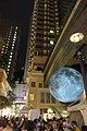 HK 灣仔 Wan Chai 利東街 Lee Tung The Avenue night 月球博物館 big Moon Museum by UK Luke Jerram October 2017 IX1 25.jpg