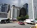 HK Central Edinburgh Place view Mandarin Oriental hotel Jardine House HSBC May-2012.JPG