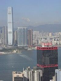 HK Mid-levels 羅便臣道 80 號 Robinson Road 1-46B view Sheung Wan 信德中心 Shun Tak Centre Kln West ICC Oct-2010.JPG