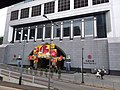 HK tram view Admiralty Queensway Bank of China Tower with lunar new year decoration January 2019 SSG.jpg