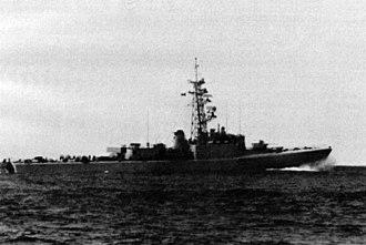 HMCS Restigouche (DDE 257) - Image: HMCS Restigouche (DDE 257) underway in 1983