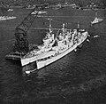 HMS Ceylon (30) and HMS Kenya (14) at Yokosuka, Japan, in October 1950.jpg