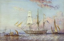Dunk Island-Early history-HMS Rattlesnake (1822)