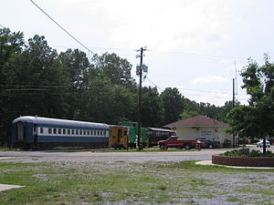 Heart of Dixie Railroad Museum - Calera, Alabama (formerly Wilton, Alabama) depot and excursion train at the Heart of Dixie Railroad Museum.