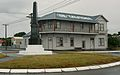 """Halcombe's war memorial and """"the local"""".JPG"""