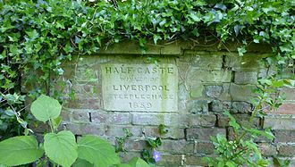 Half Caste (horse) - Memorial plaque to Half Caste, the winner of the 1859 Grand National at Aintree, in a wall at Apes (or Aps) Hall, Littleport, Cambridgeshire, UK