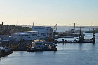 Irving Shipbuilding - The modernized Halifax Shipyard in 2015.