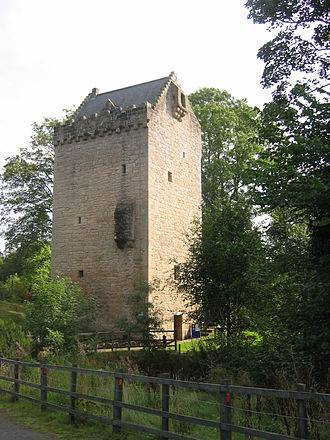 Tower house - The Tower of Hallbar in South Lanarkshire, Scotland