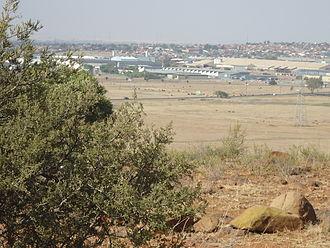 Bloemfontein - View of the Hamilton industrial area in Bloemfontein