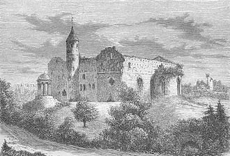 Haapsalu Castle - Engraving of the castle from 1889