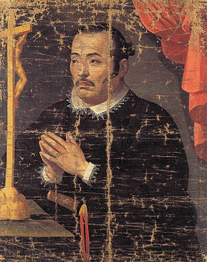 Japanese people in Spain - Hasekura Tsunenaga in prayer, following his conversion to Christianity in Madrid in 1615.