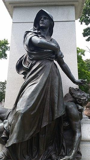 Haymarket Martyrs' Monument - Image: Haymarket Martyrs Memorial detail 02