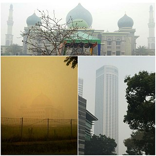 2015 Southeast Asian haze air pollution crisis affecting several countries in Southeast Asia