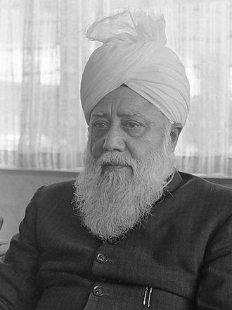 Ahmadiyya Caliphate - Image: Hazrat Mirza Nasir Ahmad Mash III (1967)