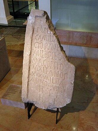 Legio V Macedonica - Image: Hecht 090710 Legio V Tombstone