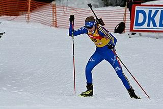 Swedish biathlete