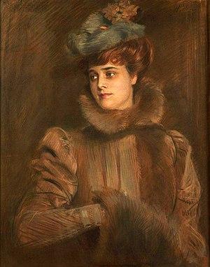 Louise Chéruit - Mme. Chéruit, painting by Paul Helleu, 1898
