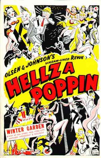 Hellzapoppin (musical) - Original Broadway window card