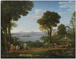 Hendrik Frans van Lint - A Landscape with the Nurture of Jupiter