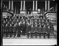 Herbert Hoover and group on steps of State, War and Navy Building, Washington, D.C. LCCN2016889613.jpg