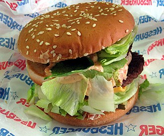 Hesburger - A Hesburger hamburger