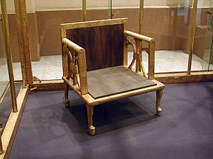 Hetepheres I - Actual chair of Queen Hetepheres from the Cairo Museum.