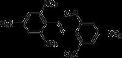 Struktur von Hexanitrostilben