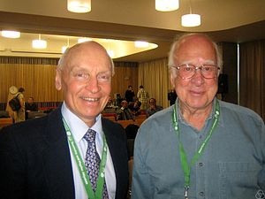 David Wallace (physicist) - David Wallace (left) and Peter Higgs