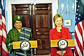 Hillary Clinton meets with Liberian President Ellen Johnson-Sirleaf, April 2009-3.jpg