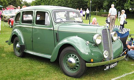 Hillman Minx Magnificent, 1937 Hillman Minx manufactured 1937 1184 cc according to tax office.JPG
