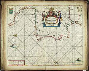 Frederik de Wit - Nautical map of Spain, dated 1654
