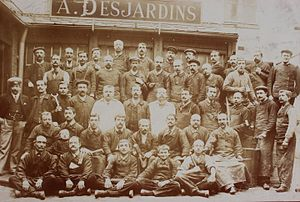 """Desjardin - Historical photo of Desjardin S.A.S. from the 19th century, when the company was still named """"A. Desjardins"""", after the founder."""