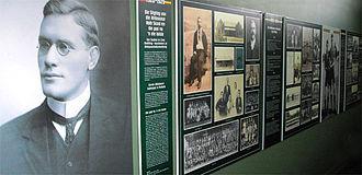 Afrikaanse Hoër Seunskool - Image: Historical wall displays, Afrikaanse Hoër Seunskool, Pretoria