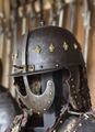 Hjälm, zischägge, pannskydd, plymhållare, näsbärga nässkydd, öronskydd, 1600-tal - Skoklosters slott - 108860.tif