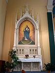 Holy Family Catholic Church (Oldenburg, Indiana) - interior, altar of the Blessed Virgin Mary.jpg