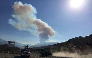 Trabuco Peak - Image: Holy Jim fire, Cleveland NF