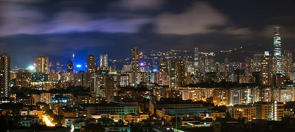 Hong Kong City, view from Kowloon