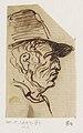 Hoofd van man met hoed, in profiel naar rechts, RP-T-1994-84.jpg