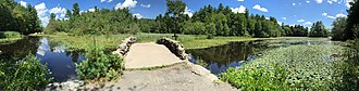 Hopedale, Massachusetts - Image: Hopedale Pond pano