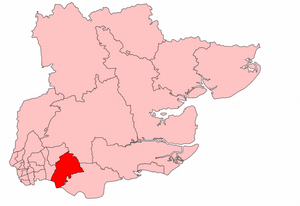 Hornchurch (UK Parliament constituency) - Hornchurch in Essex, showing boundaries used from 1945 to 1950.