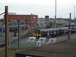 Hornsey EMU depot and former steam locomotive shed - Hornsey Train Maintenance Depot, main building (2008)