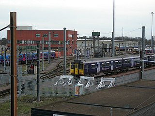 Hornsey EMU depot and former steam locomotive shed