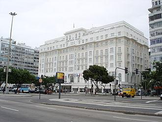 Avenida Atlântica - Image: Hotel copacabana palace