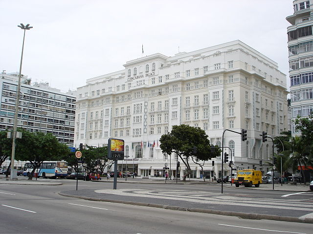 Copacabana Palace, for attribution see http://pt.wikipedia.org/wiki/Ficheiro:Hotel_copacabana_palace.jpg