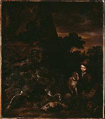 Landscape with Sportsman