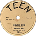 Hound Dog by Freddie Bell and the Bellboys (US 78RPM vinyl).png