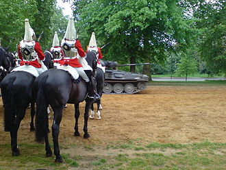 Life Guards (United Kingdom) - Image: Household cavalry Hyde Park